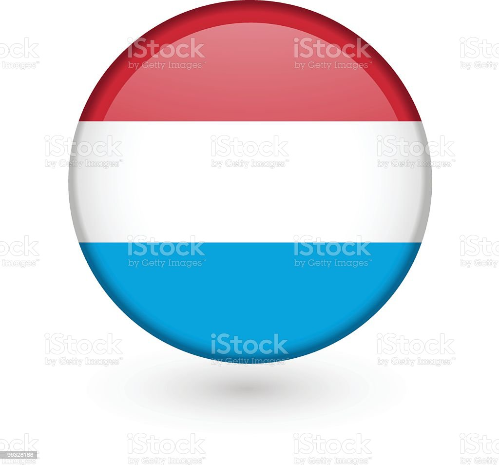 Luxemburg flag vector button vector art illustration