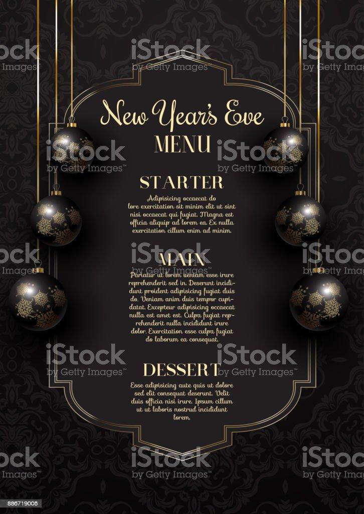 luxurious elegant new years eve menu design stock vector art more