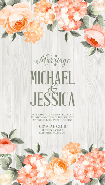 luxurious floral card - wedding backgrounds stock illustrations, clip art, cartoons, & icons
