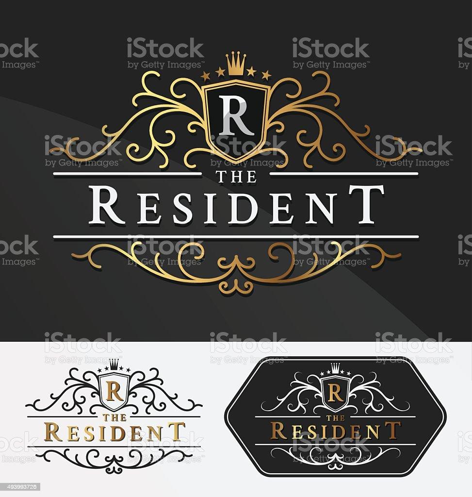 Luxurious Royal Logo Vector Re-sizable Design vector art illustration