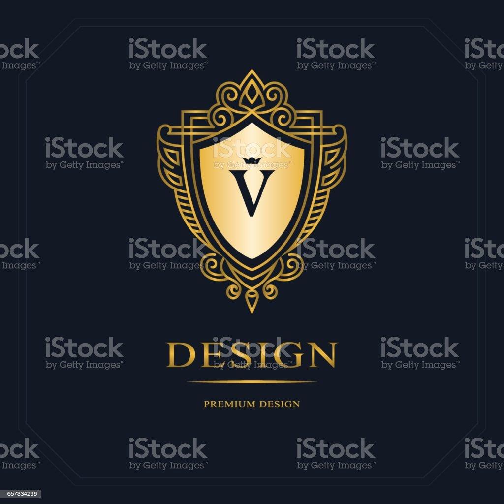 Monograma Resumen De Lujo Elegante Plantilla Diseño De Arte ...