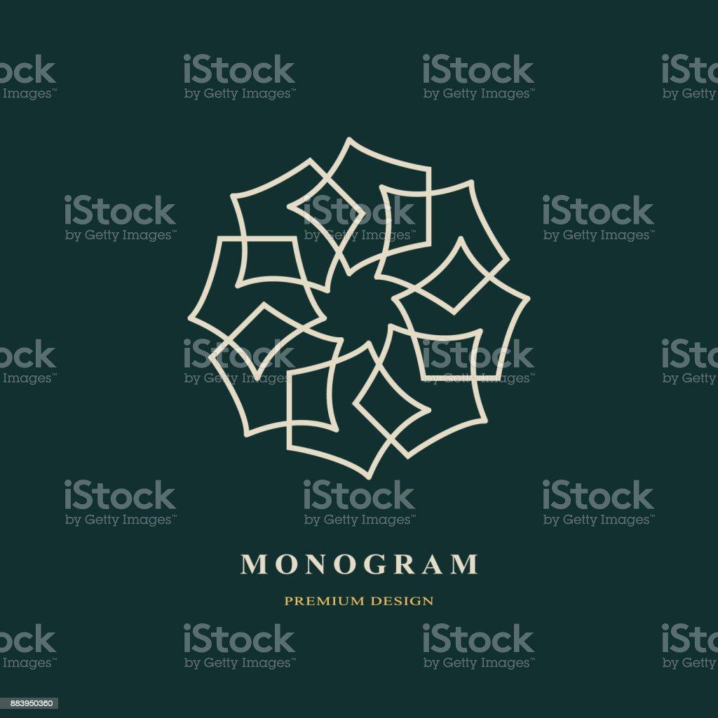 Luxe Abstract Monogram Modele Gracieux Conception Dart Calligraphique Ligne Elegante Signe