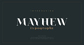 istock Luxury alphabet letters font. Classic Modern Lettering Minimal Fashion Designs. Typography fonts regular uppercase and lowercase. vector illustration 1278723487