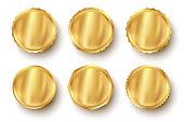 Vector set golden web luxury award banners. Premium web golden banners.