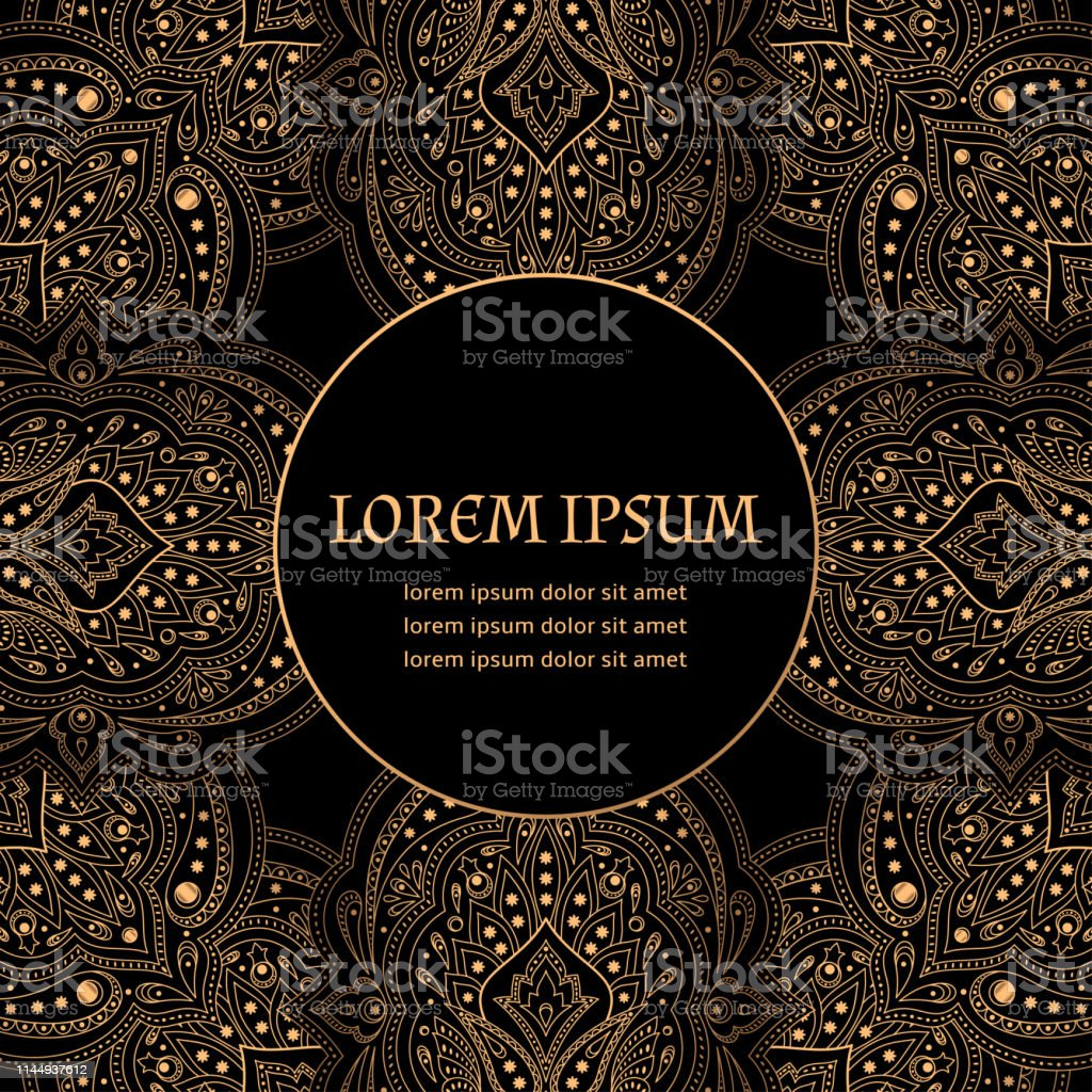 Luxury Background Vector Ethnic Royal Pattern Card Template