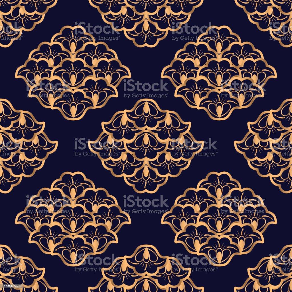 luxury background vector floral royal pattern seamless damask design