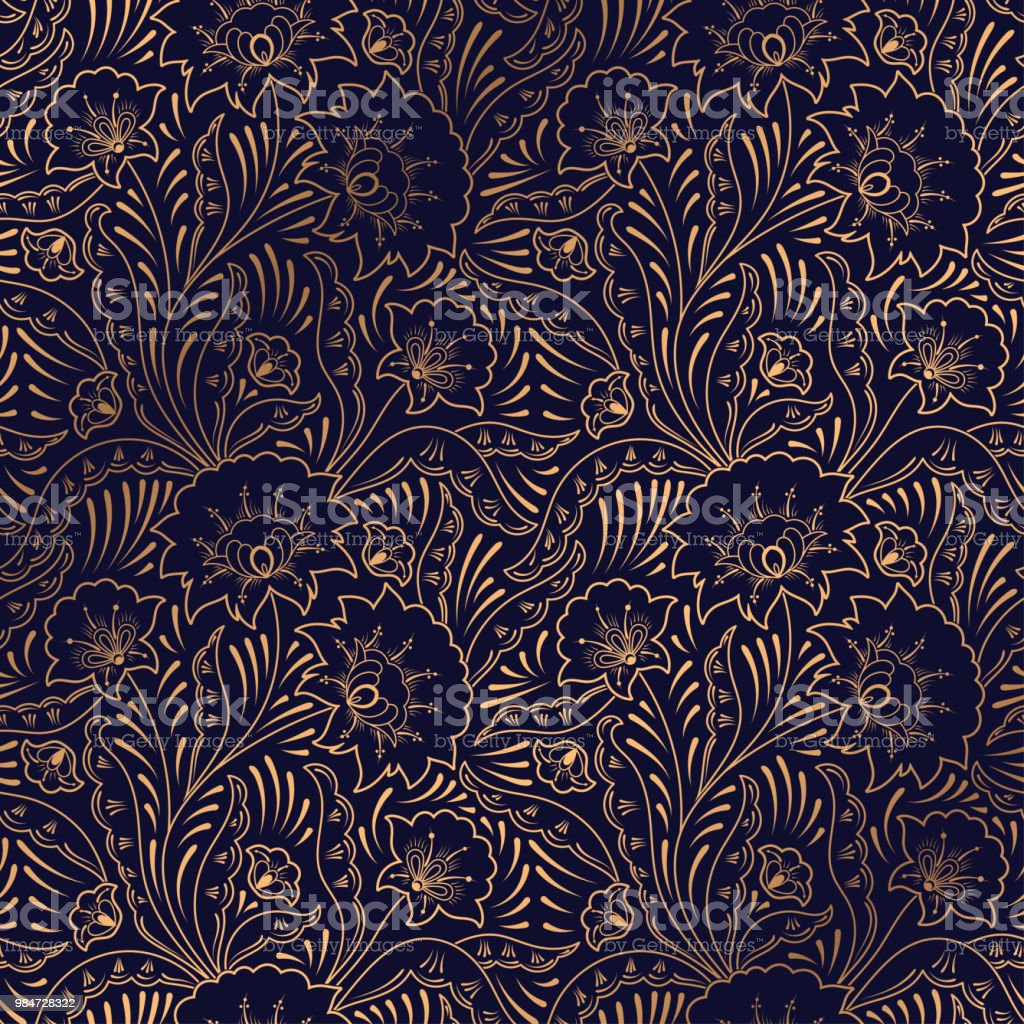Luxury background vector. Floral royal pattern seamless. Indian design for yoga wallpaper, beauty spa salon ornament, indian wedding party, birthday wrapping paper, save the date card, holiday gift. royalty-free luxury background vector floral royal pattern seamless indian design for yoga wallpaper beauty spa salon ornament indian wedding party birthday wrapping paper save the date card holiday gift stock illustration - download image now