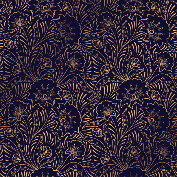 luxury background vector. floral royal pattern seamless. indian design for yoga wallpaper, beauty spa salon ornament, indian wedding party, birthday wrapping paper, save the date card, holiday gift. - fashion backgrounds stock illustrations, clip art, cartoons, & icons
