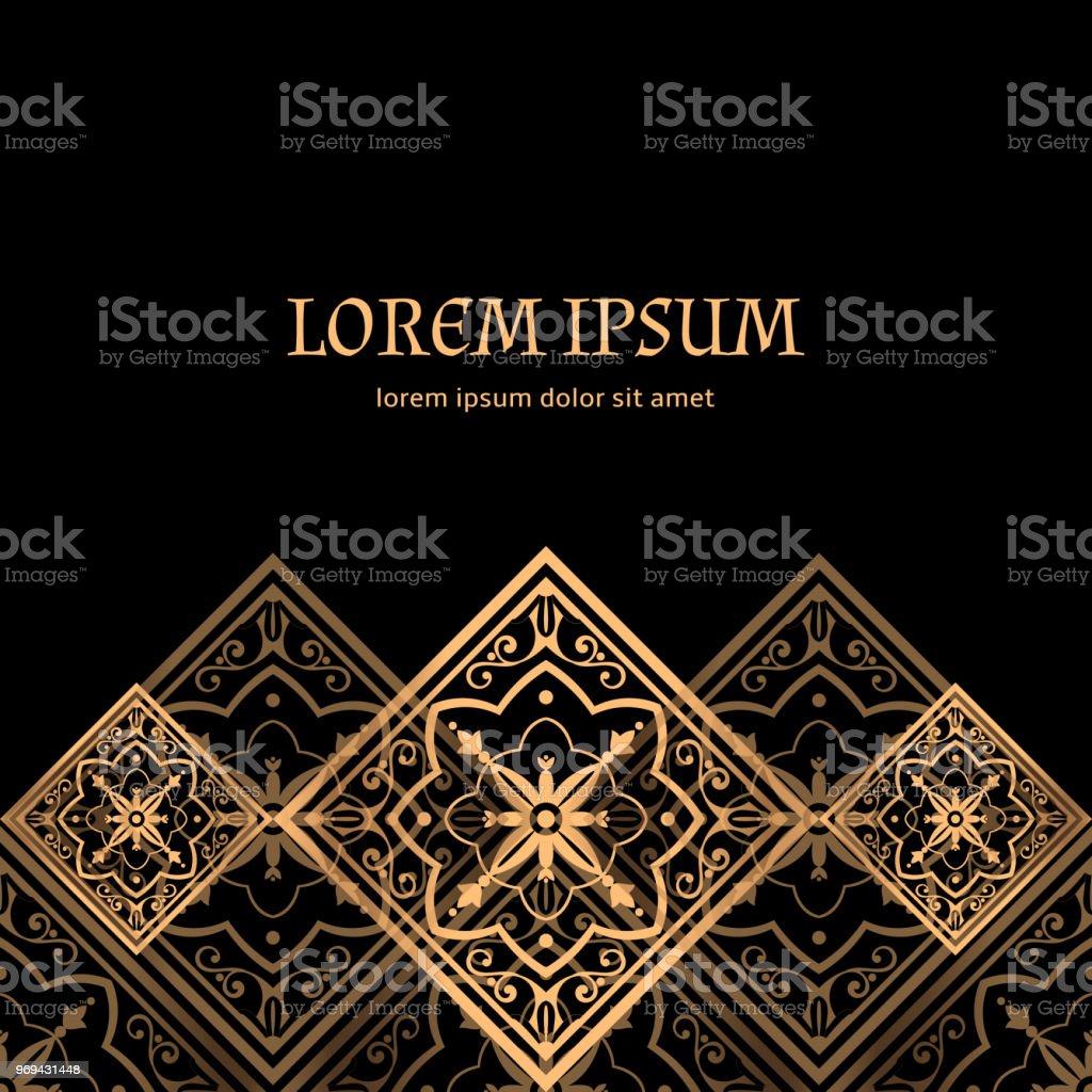 Luxury Background Vector Golden Royal Pattern Baroque Tile Design