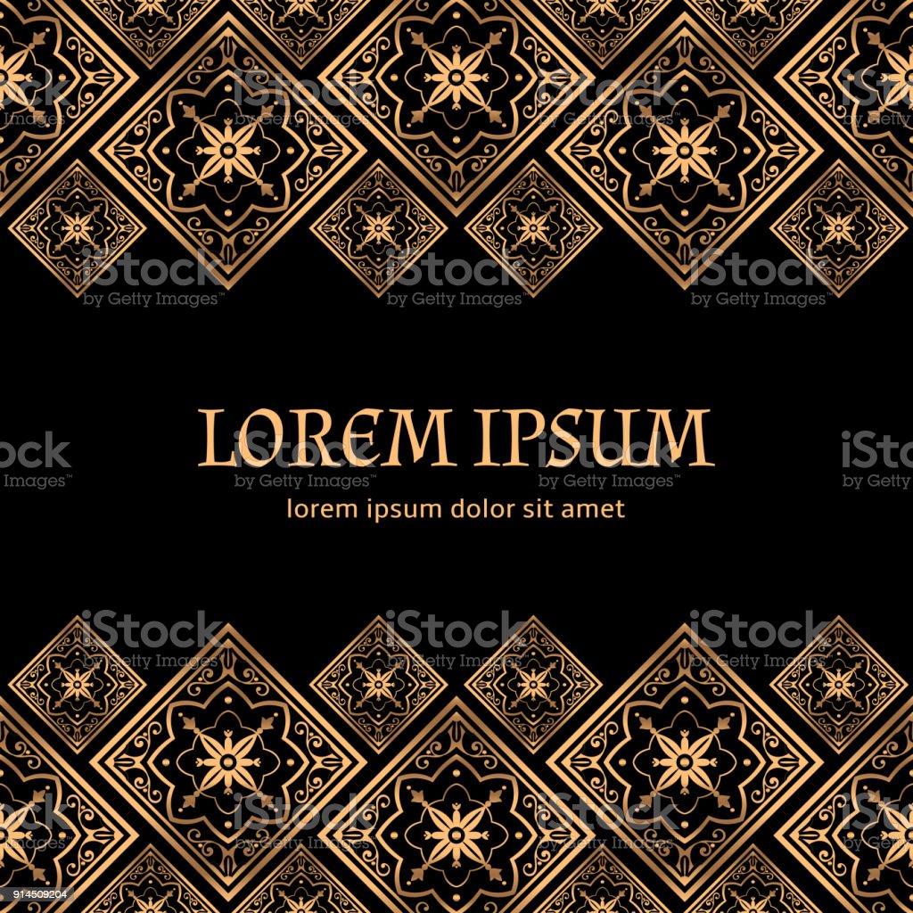 Luxury Background Vector Golden Royal Pattern Vintage