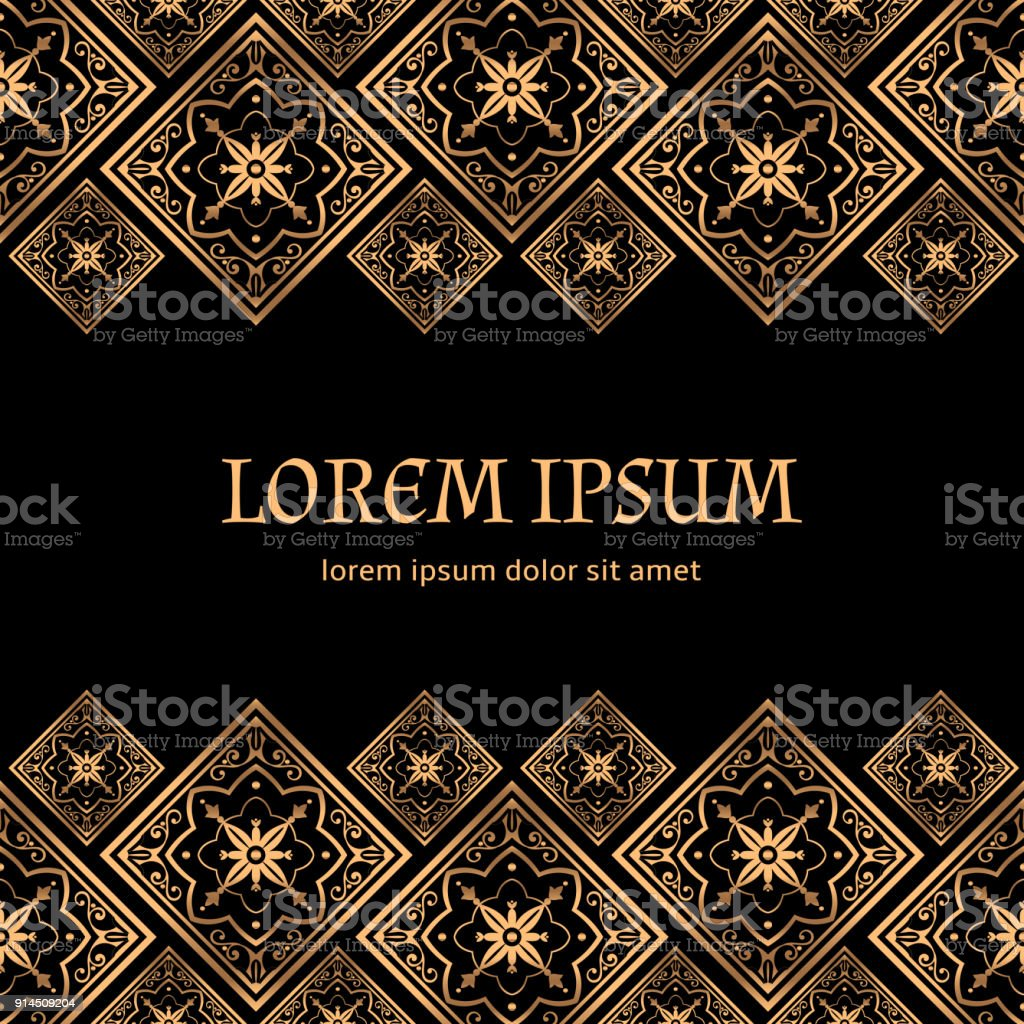 Luxury background vector. Golden royal pattern. Vintage design for beauty spa, wedding ceremony, greeting card, anniversary template, menu covering, christmas and new year concepts, yoga wallpaper. vector art illustration