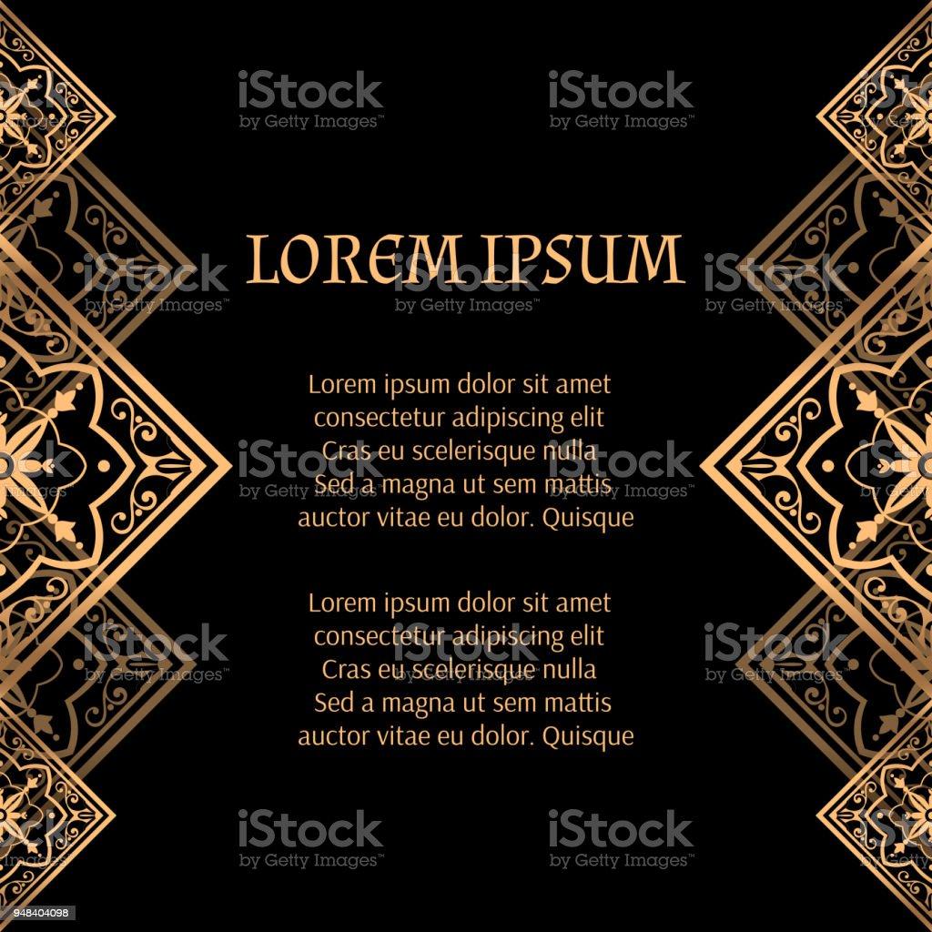 Luxury Background Vector Golden Royal Pattern Vintage Moroccan Tile ...