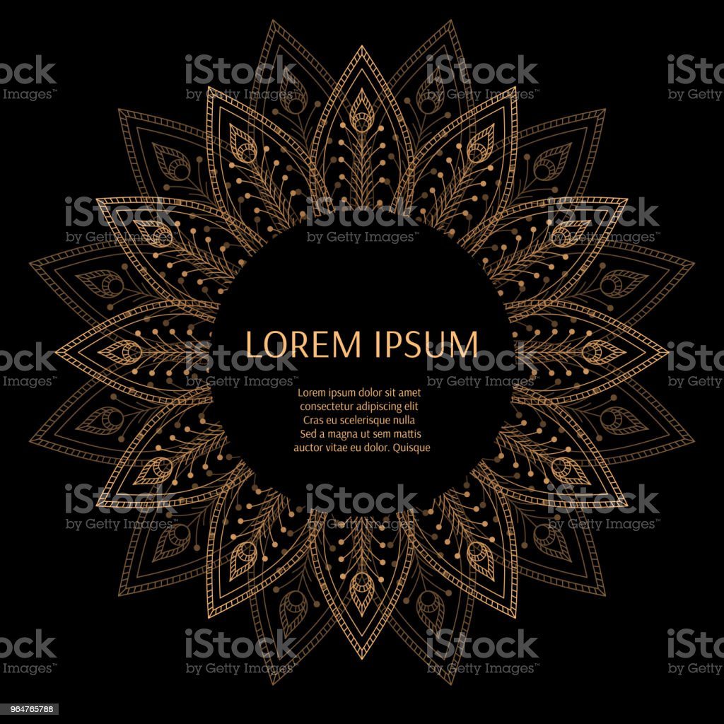 Luxury background vector. Peacock feathers royal pattern frame. Mandala flower design for beauty spa salon logo flyer, wedding party invitation, anniversary greeting, holiday christmas card template. royalty-free luxury background vector peacock feathers royal pattern frame mandala flower design for beauty spa salon logo flyer wedding party invitation anniversary greeting holiday christmas card template stock vector art & more images of anniversary