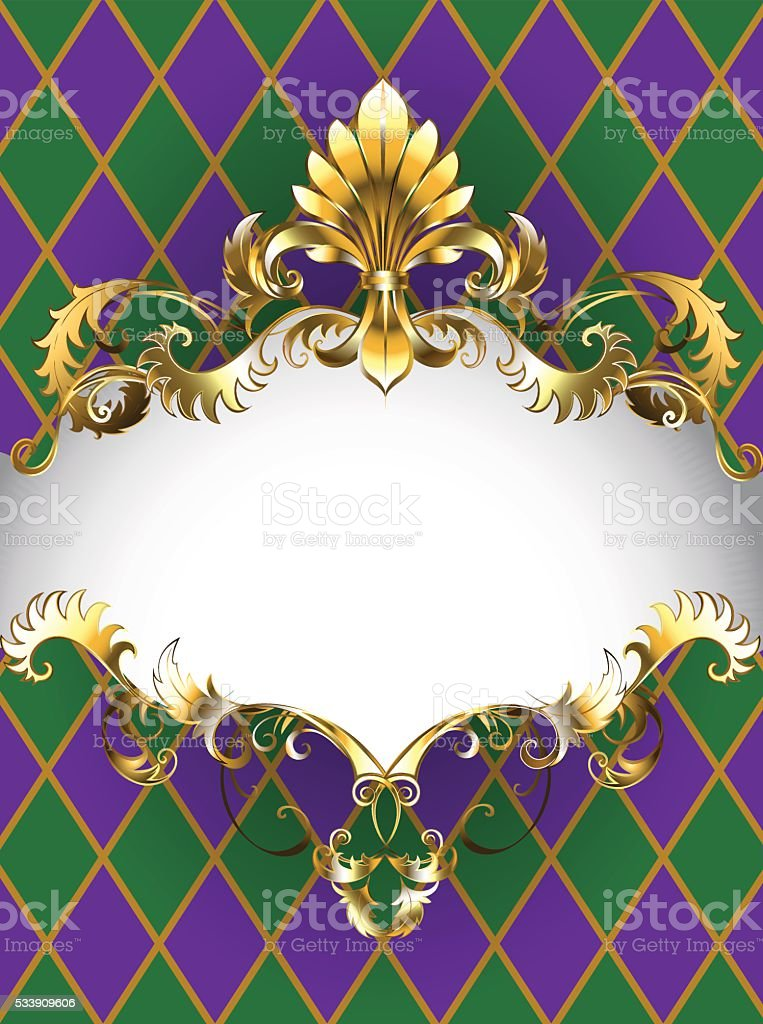 luxury banner Mardi Gras vector art illustration