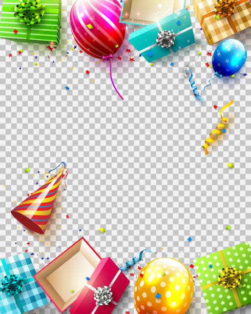 Luxury birthday template vector art illustration