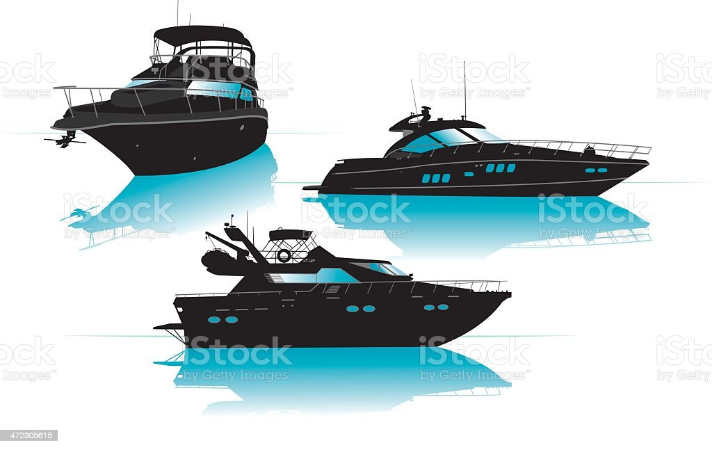 Luxury Boats or Yachts - Recreational Pursuit royalty-free luxury boats or yachts recreational pursuit stock vector art & more images of aquatic sport