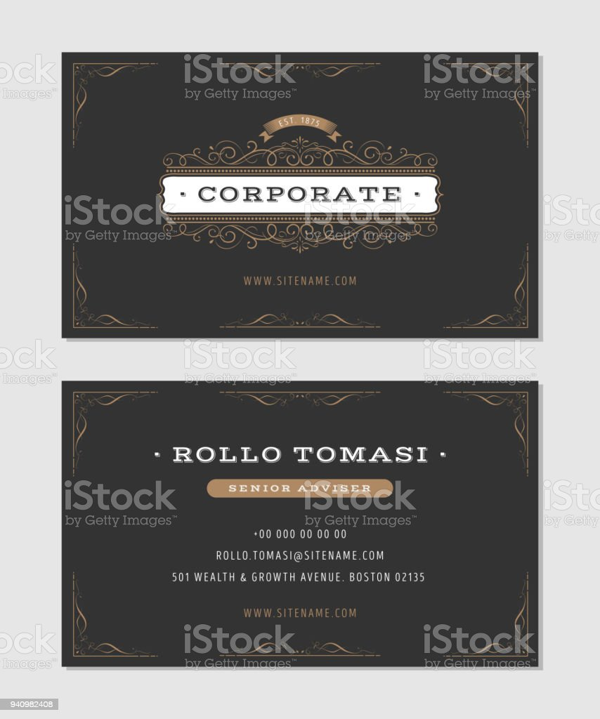Luxury Business Card Stock Vector Art More Images Of Advertisement