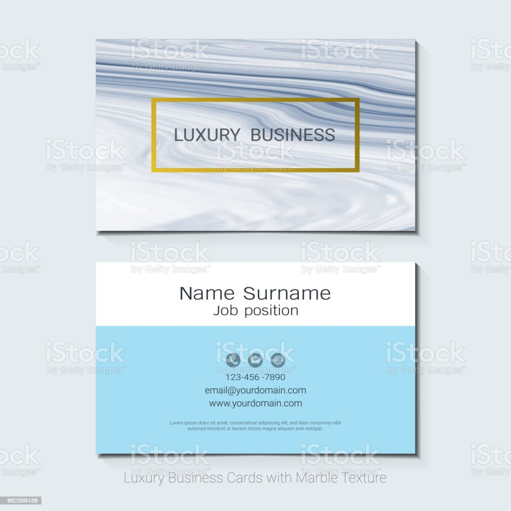 Luxury business cards vector template banner and cover with marble luxury business cards vector template banner and cover with marble texture and gold foil details reheart Choice Image