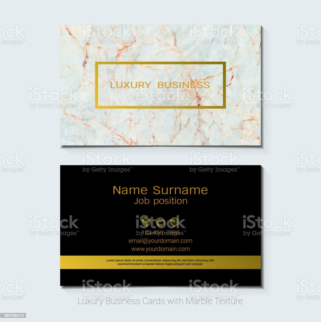 Luxury business cards vector template banner and cover with marble luxury business cards vector template banner and cover with marble texture and golden foil details colourmoves