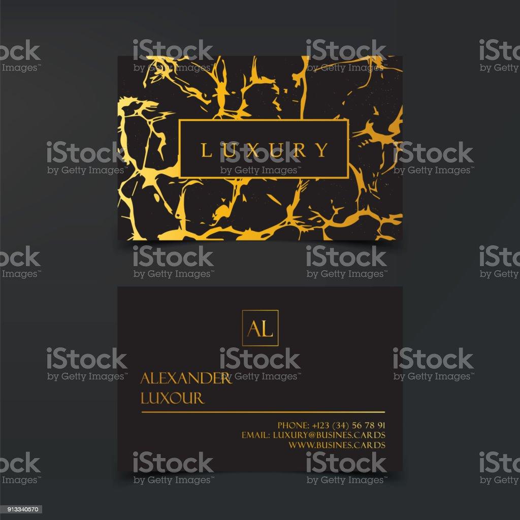 Luxus Visitenkarten Vektor Vorlage Banner Und Abdeckung Mit Marmor ...