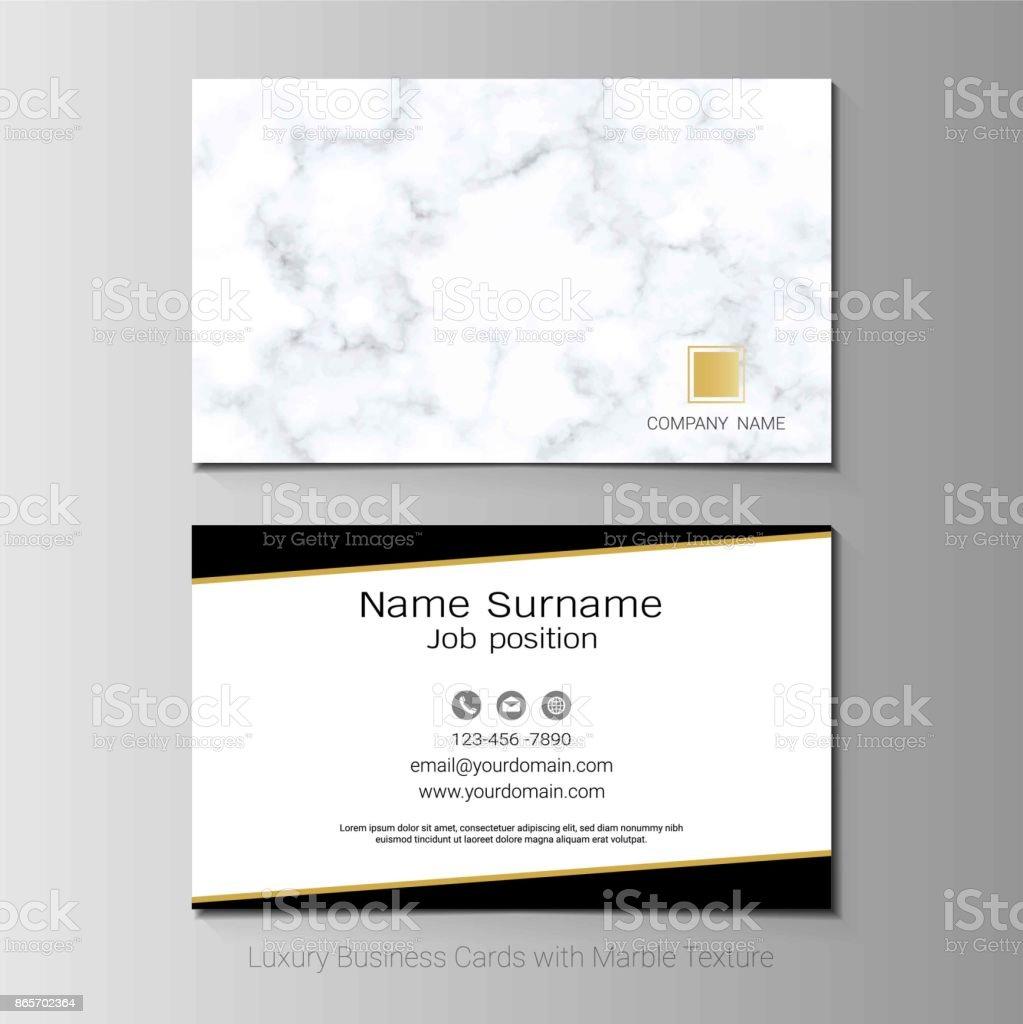Luxus Visitenkarten Vektor Vorlage Einfachen Stil Auch