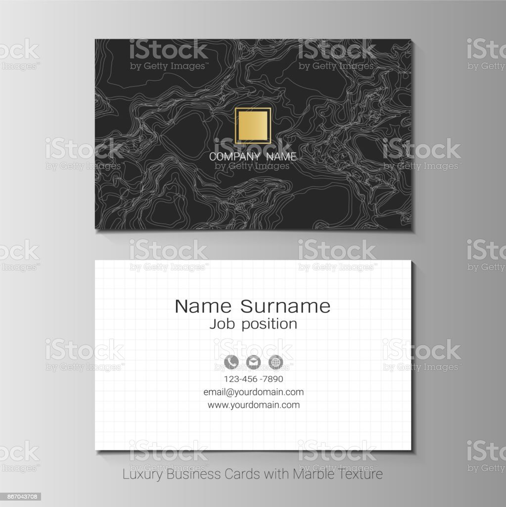 Luxury Business Cards Vector Template Simple Style Also Modern And ...