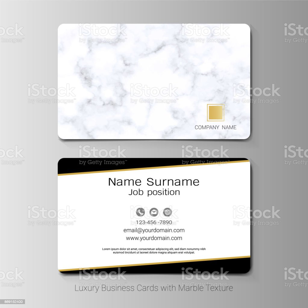 Luxury business cards vector template simple style also modern and luxury business cards vector template simple style also modern and elegant with marbling texture imitation reheart Images