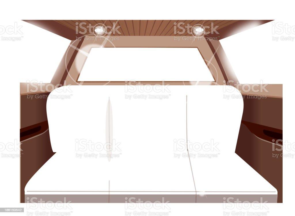Luxury car interior vector art illustration
