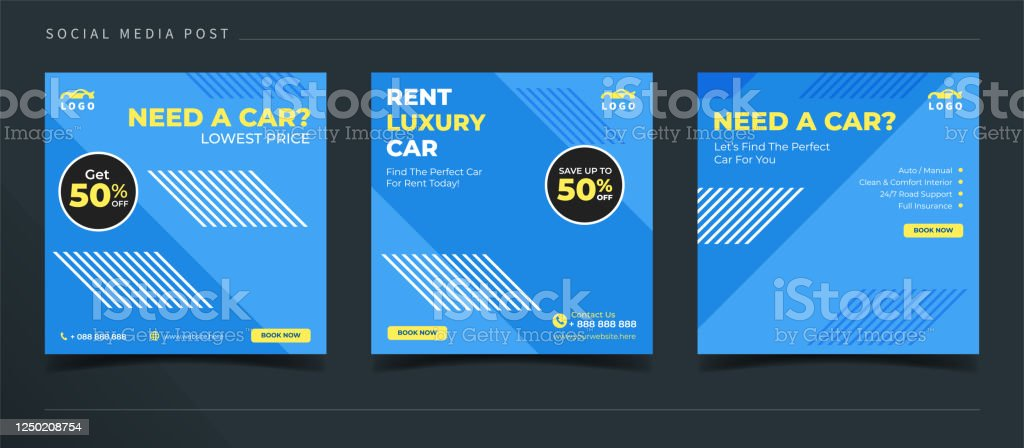 Luxury Car Rental Banner For Social Media Post Template Stock Illustration Download Image Now Istock