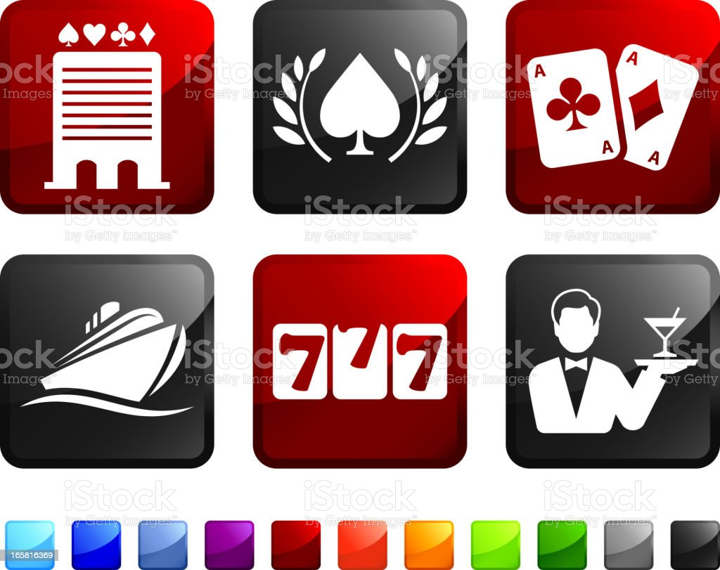 Luxury Casino royalty free vector icon set stickers vector art illustration