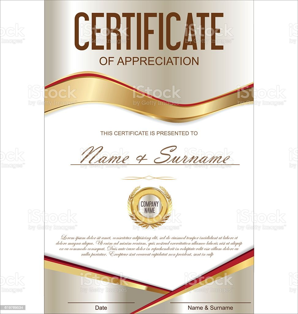 Luxury certificate or diploma template stock vector art 619769534 luxury certificate or diploma template royalty free stock vector art yadclub Image collections