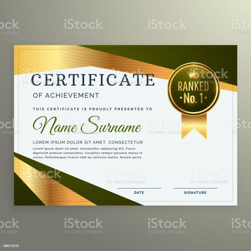 Zertifikatvorlage Luxusdesign In Geometrische Formensprache Stock ...