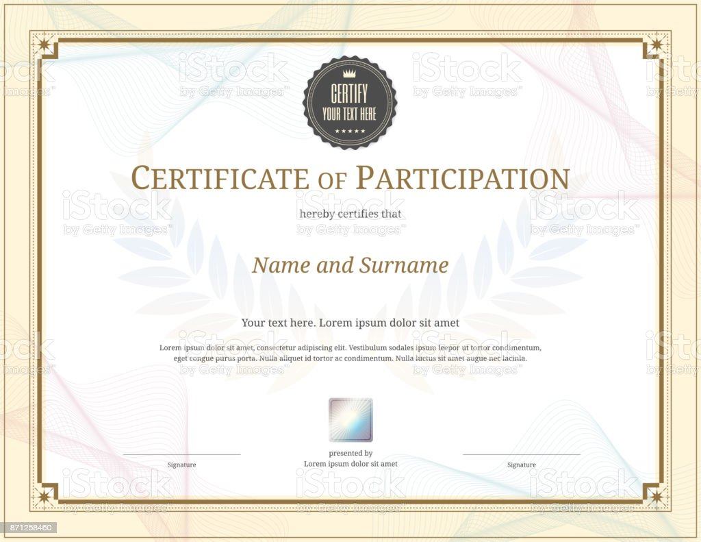 Luxury certificate template with elegant border frame diploma luxury certificate template with elegant border frame diploma design for graduation or completion royalty alramifo Gallery