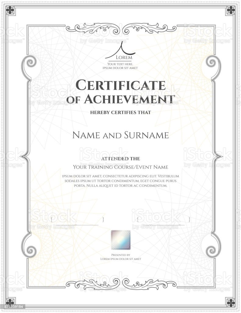 Luxury certificate template with elegant border frame diploma luxury certificate template with elegant border frame diploma design for graduation or completion royalty xflitez Images