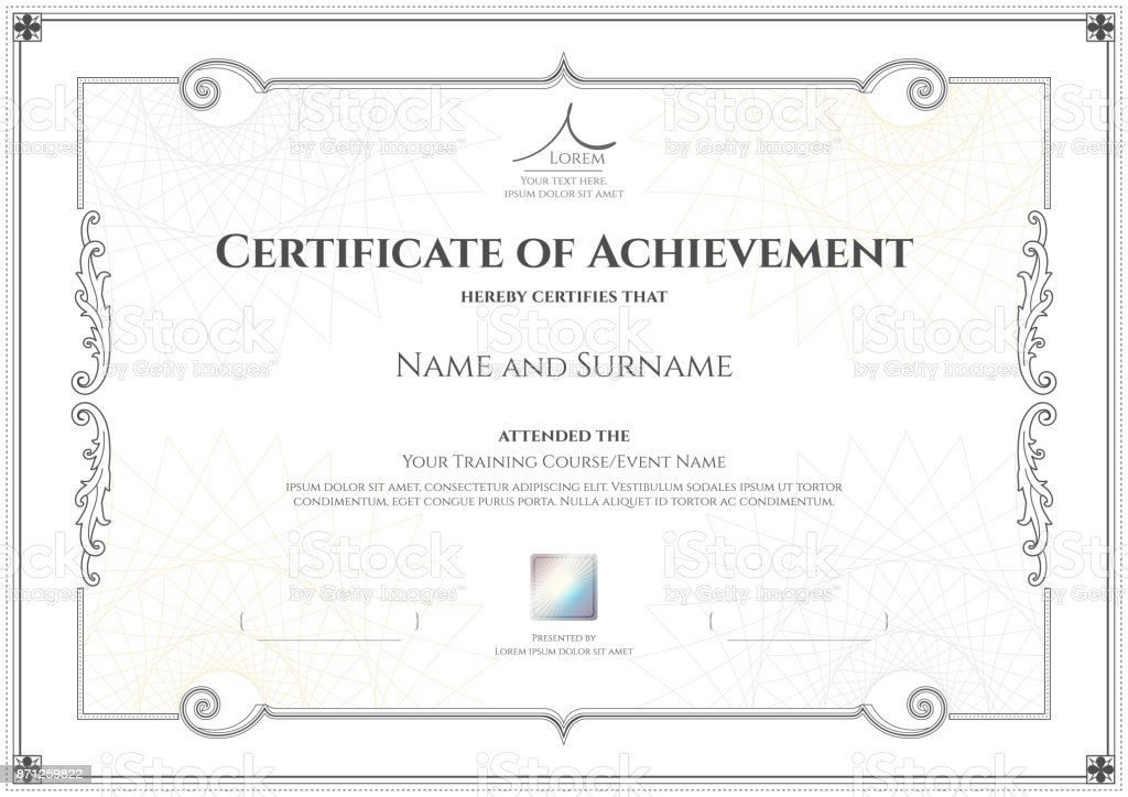 Luxury certificate template with elegant border frame diploma calligraphy gold thailand abstract achievement luxury certificate template yadclub Gallery