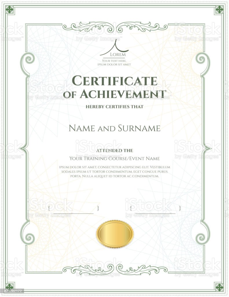 Luxury certificate template with elegant border frame diploma luxury certificate template with elegant border frame diploma design for graduation or completion royalty alramifo Choice Image