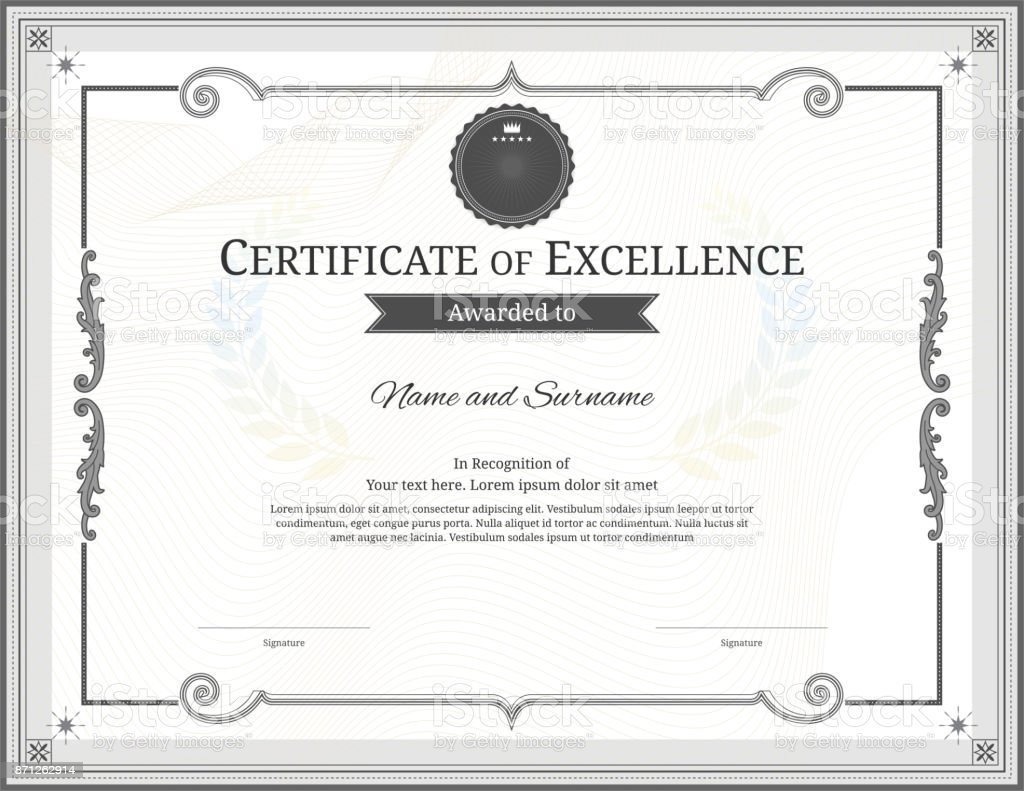 Luxury certificate template with elegant border frame diploma design luxury certificate template with elegant border frame diploma design for graduation or completion royalty yadclub Gallery
