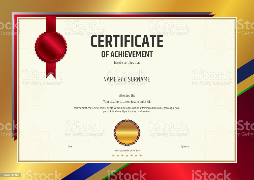 Luxury certificate template with elegant border frame diploma luxury certificate template with elegant border frame diploma design for graduation or completion royalty yelopaper Images
