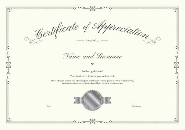 Best Certificate Border Illustrations, Royalty-Free Vector