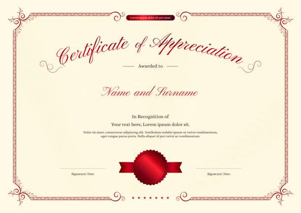 エレガントな枠、卒業または修了のディプロマ デザイン高級証明書テンプレート - 証明書と表彰のフレーム点のイラスト素材/クリップアート素材/マンガ素材/アイコン素材