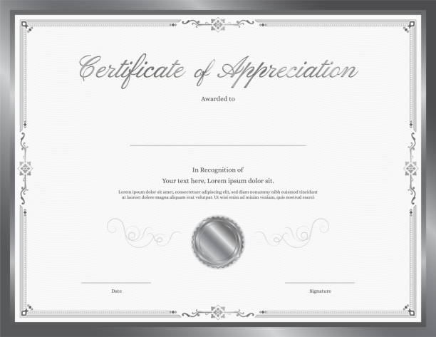 Royalty Free Certificate Diploma Of Completion Design