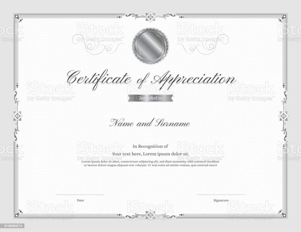 Luxury certificate template with elegant border frame diploma design luxury certificate template with elegant border frame diploma design for graduation or completion royalty yadclub Image collections