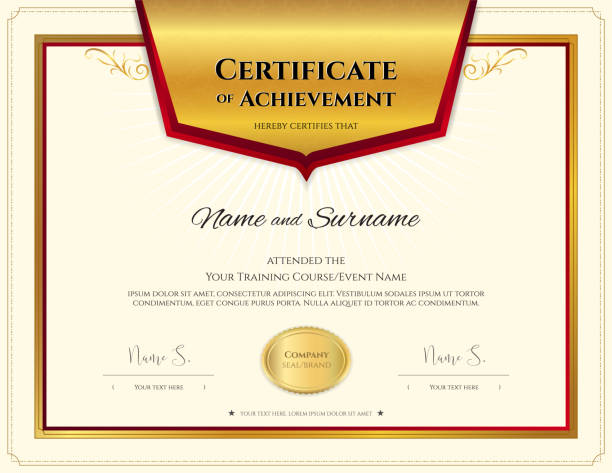 Royalty Free Elegant Certificate Template For Excellence Achievement