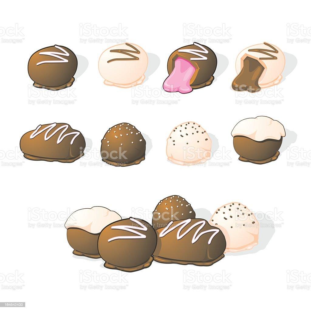 Luxury Chocolate Selection vector art illustration