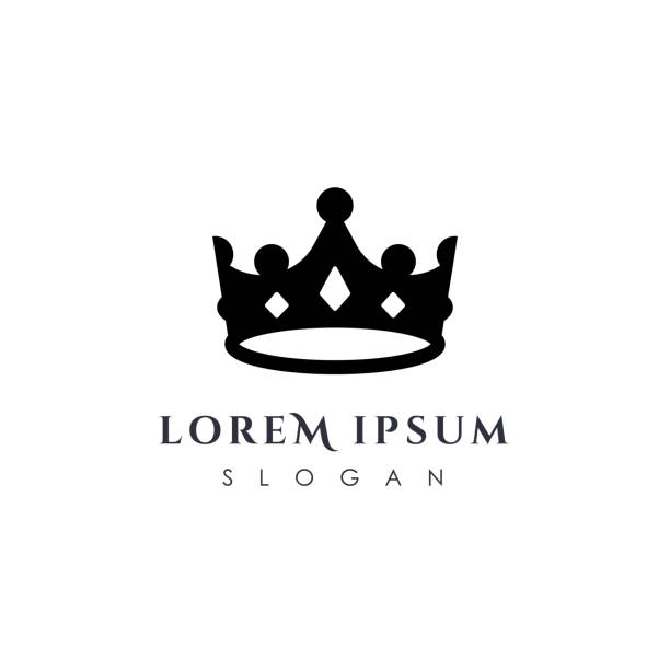 Luxury crown icon vector template. linear crown icon vector design Luxury crown icon vector template. linear crown icon vector design crown headwear stock illustrations