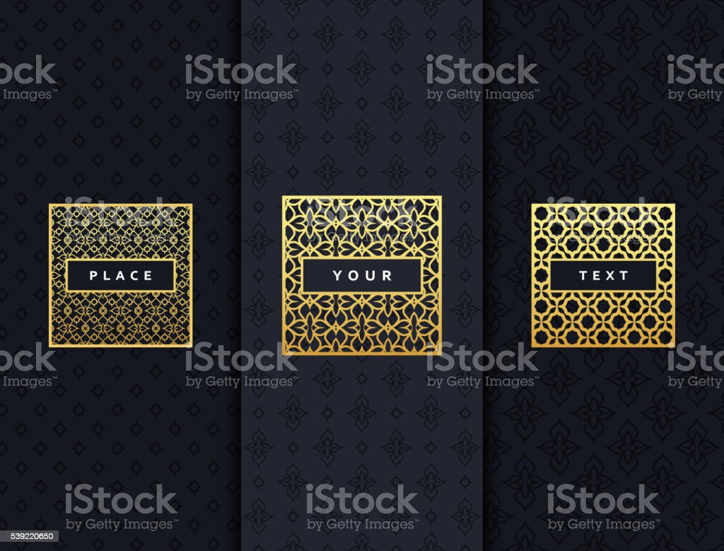Luxury design elements frame. vector art illustration