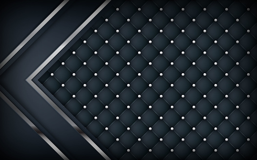 Luxury dimension black leather background
