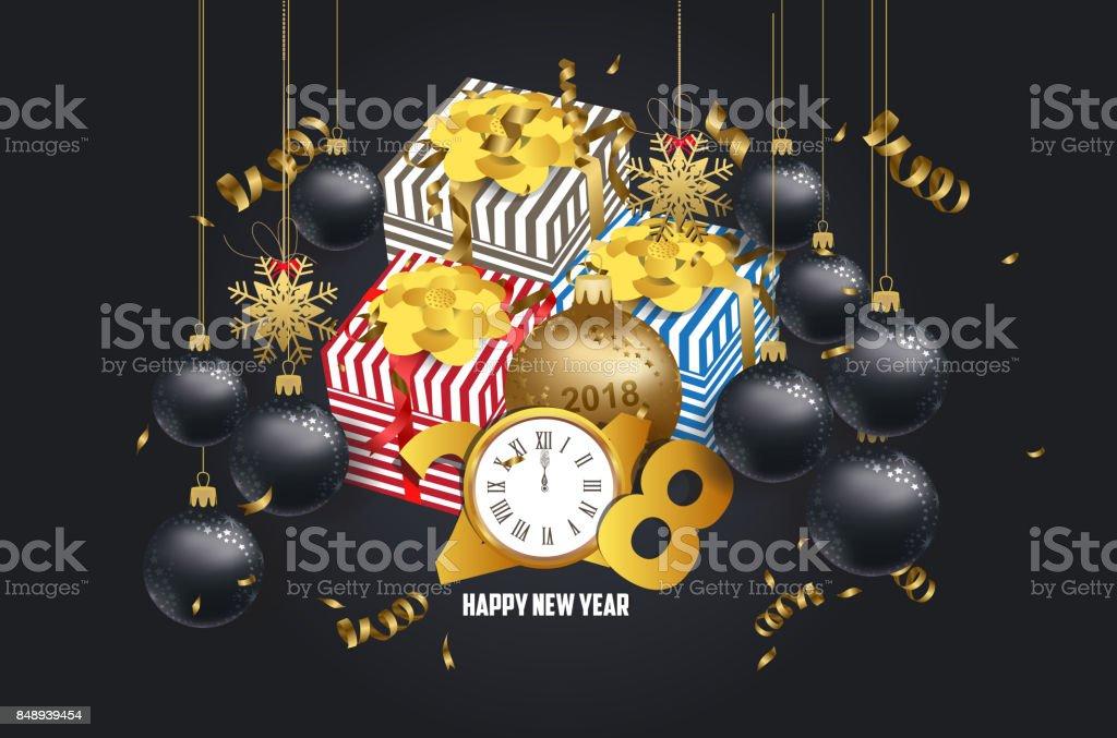 cadeau noel 2018 luxe Luxe élégant Joyeux Noël Et Bonne Année Cadeau Poster Confettis Et  cadeau noel 2018 luxe
