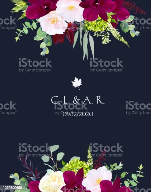 Luxury fall flowers vector design navy blue frame vector id1037300658?b=1&k=6&m=1037300658&s=612x612&h=0rp4 im47afurza dcjib7nlbisazwcgdw7i7cj3hei=