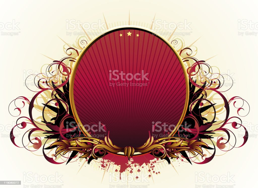 luxury floral frame royalty-free stock vector art